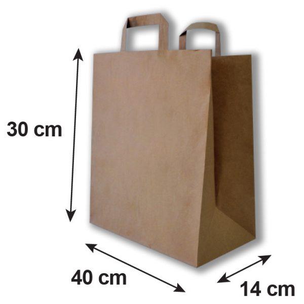 Bolsa de papel grande medidas