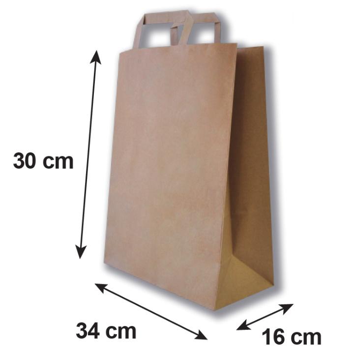 Bolsa de papel mediana medidas