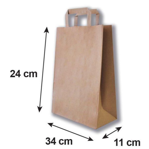 Bolsa de papel pequeña medidas
