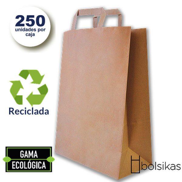 Bolsas de papel con asas mediana