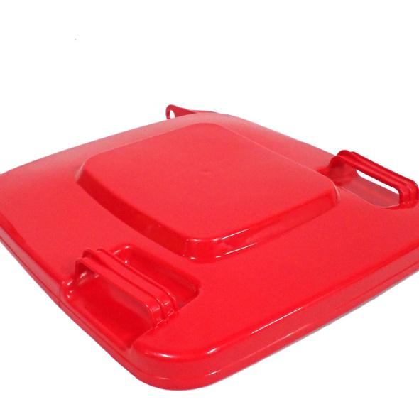 Tapa contenedor basura industrial rojo