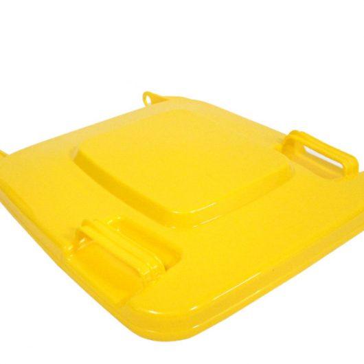 Tapa contenedor industrial amarilla