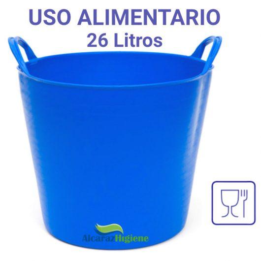 Capazo alimentario 26 litros azul