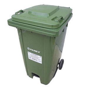 Contenedor de basura con pedal 240 litros