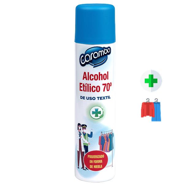 Spray desinfectante para ropa con alcohol 300 ml