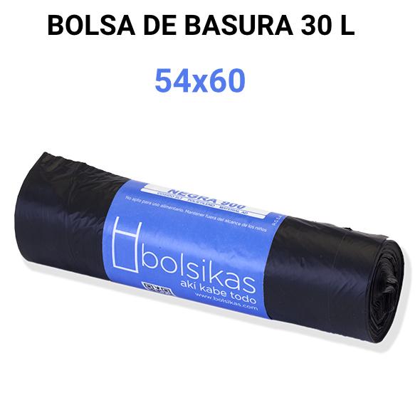 Bolsa de basura hogar negra 54x60 Alcaraz higiene