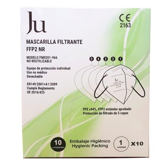 Mascarilla filtrante 5 capas Ju