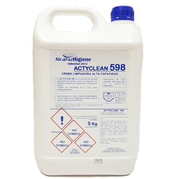 Jabón crema para la limpieza de manos Actyclean 598