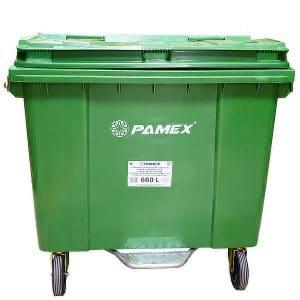 Contenedor de basura sistema elevación verde 660 litros