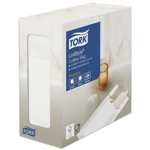 Servilleta para cubiertos Tork Premium Linstyle blanca