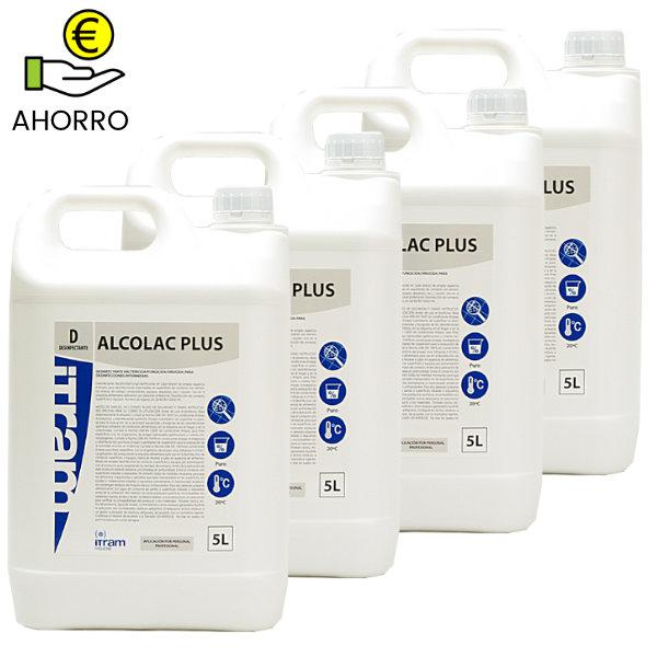 Alcolac plus 5 litros pack 4 garrafas