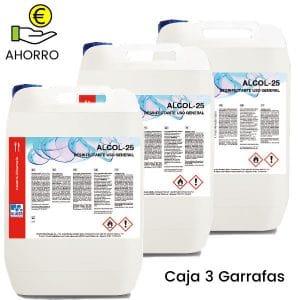 Desinfectante multiusos virucida Alcol-25 (5 Litros) Pack 3 Garrafas