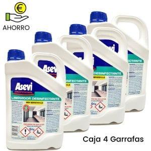 Desinfectante bactericida sin lejía Asevi Profesional 5 litros Pack 4 Garrafas