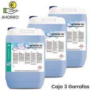 Fregasuelos perfumado concentrado Xerona RJ 5 litros Pack 3 garrafas