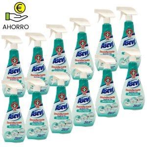 Limpiador desinfectante bactericida Asevi 750 ml Pack 12 Botellas