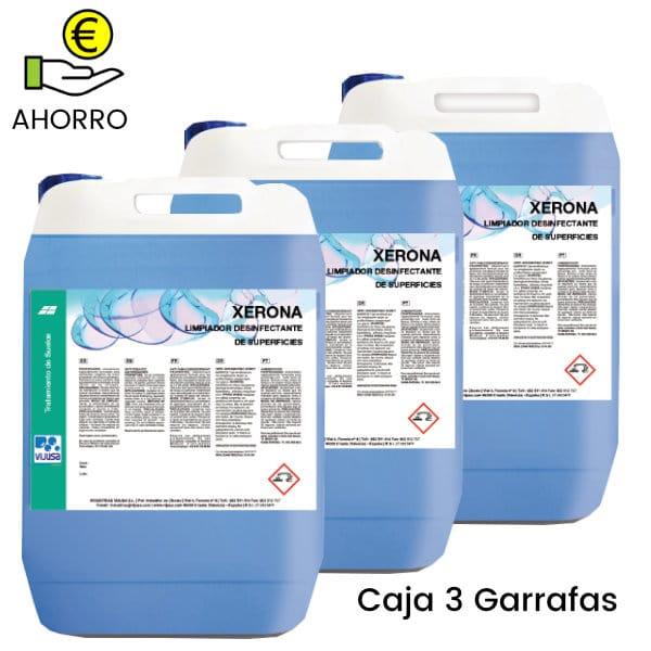 Limpiador desinfectante multiusos Xerona 5 litros Pack 3 Garrafas