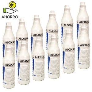 Limpiador desinfectante virucida Alcolac Plus 1L Pack Ahorro 12 botellas