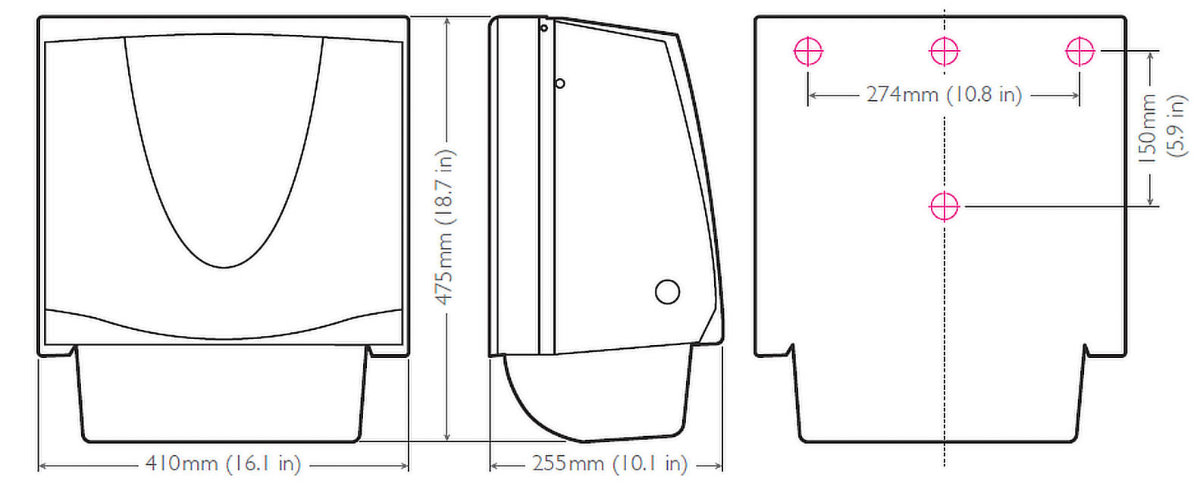 Medidas toallero tela Alcaraz Higiene
