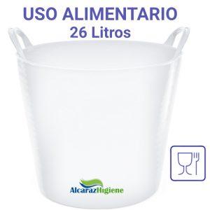 Capazo alimentario 26 litros blanco