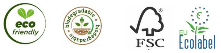 Eco label ecofriendly biodegradable